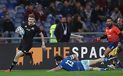 November 24, 2018 - Rome, Italy - Italy v New Zealand All Blacks - Rugby Cattolica Test Match.New Zealands Jordie Barrett at Olimpico Stadium in Rome, Italy on November 24, 2018. (Credit Image: © Matteo Ciambelli/NurPhoto via ZUMA Press)