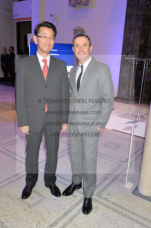 Left to right, SH JO and SHAUN LEANE at a private view of Alexander McQueen's Savage Beauty exhibition hosted by Samsung BlueHouse at the V&A, London on 30th March 2015.