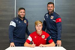 Bristol City Head Coach Lee Johnson and Assistant Head Coach Jamie McAllister look on as Tom Richards signs a new contract with Bristol City Under 23s ahead of the 2017/18 Season - Rogan/JMP - 11/07/2017 - Ashton Gate Stadium - Bristol, England.