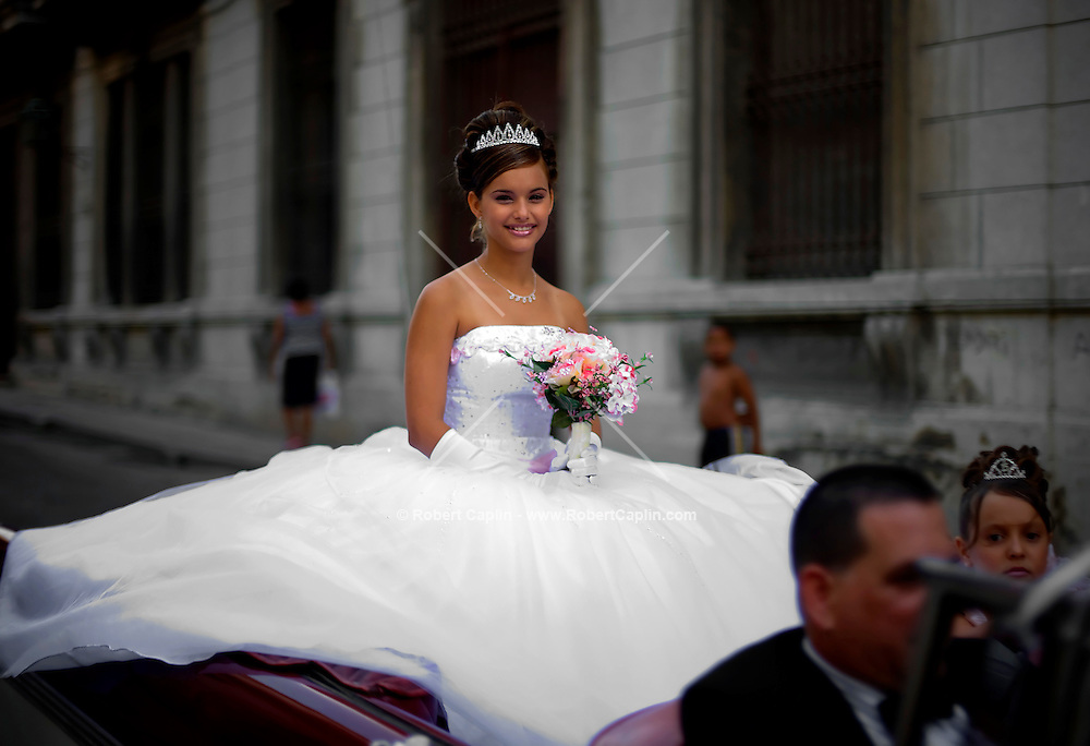Cuban Bride in Car