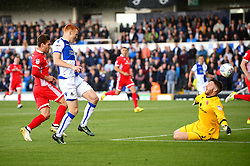 Rory Gaffney of Bristol Rovers scores the opening goal of the game - Mandatory by-line: Dougie Allward/JMP - 09/09/2017 - FOOTBALL - Memorial Stadium - Bristol, England - Bristol Rovers v Walsall - Sky Bet League One