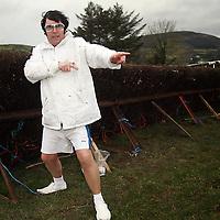 The Kilkenny Elvis aka Miles Kavanagh didn't feel the cold at the Killaloe Point to Point on Sunday.<br /><br /><br /><br />Photograph by Yvonne Vaughan.
