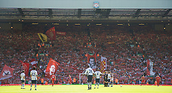 LIVERPOOL, ENGLAND - Sunday, May 24, 2009: Liverpool supporters on the Spion Kop before the Premiership match against Tottenham Hotspur at Anfield. (Photo by: David Tickle/Propaganda)