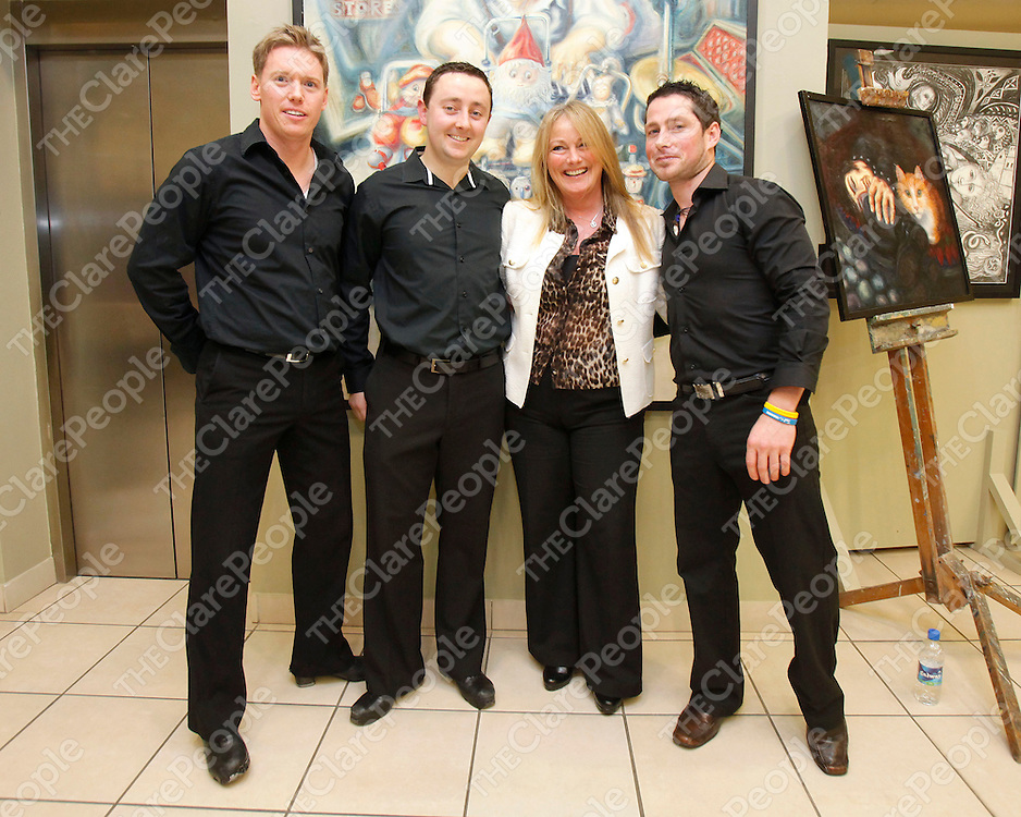 17/11/2012<br /> Anthony Sharkey, Gary Collins, Mary Howard and Paul Roche pictured at Banner Jigs and Reels at Glor, Ennis.<br /> Picture: Don Moloney / Press 22