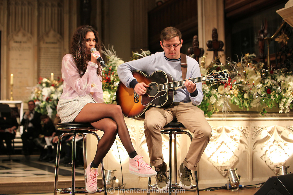 Eliza Doolittle accompanied by Charlie Morton, Nordoff Robbins Carol Service  2011 sponsored by Coutts. London..Wednesday, 14. Dec 2011