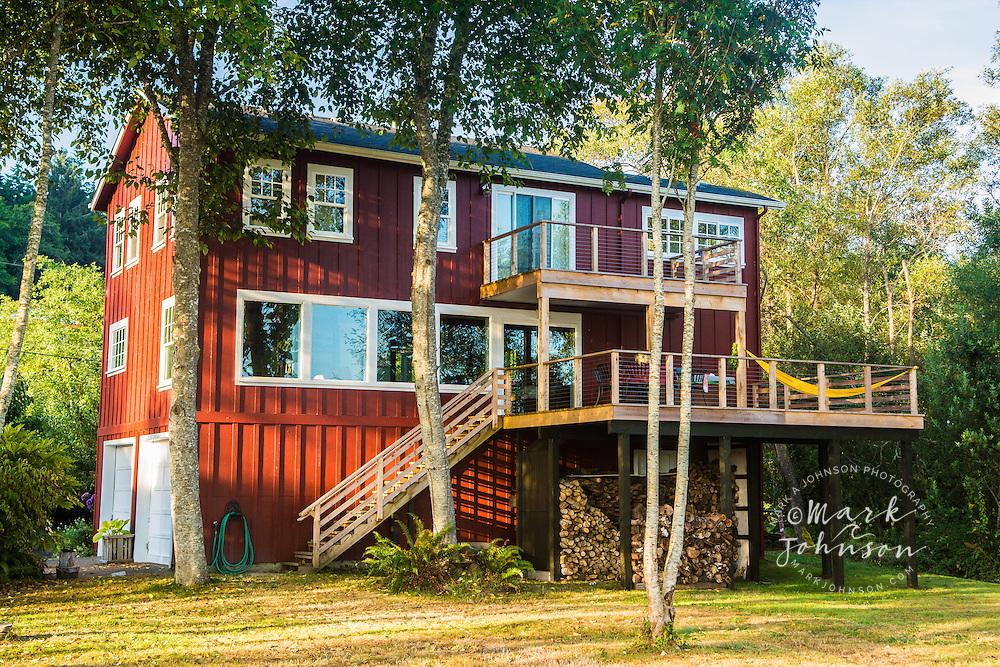 Private home and yard, Astoria, Oregon, USA