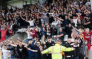 4th August 2018, Simple Digital Arena, Paisley, Scotland; Ladbrokes Premiership football, St Mirren versus Dundee; St Mirren fans celebrate their winning goal