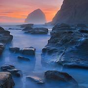 Cape Kiwanda - Haystack And Tide Pools - Oregon Coast - Dusk