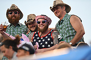 Fans watching the action during the USA Sevens Rugby Series at Sam Boyd Stadium, Las Vegas, USA on 2 March 2018. Picture by Ian  Muir.