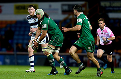 Blair Cowan of London Irish passes the ball - Mandatory by-line: Robbie Stephenson/JMP - 17/05/2017 - RUGBY - Headingley Carnegie Stadium - Leeds, England - Yorkshire Carnegie v London Irish - Greene King IPA Championship Final 1st Leg