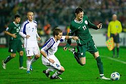Peter Pekarik of Slovakia vs Milivoje Novakovic of Slovenia at  the 2010 FIFA World Cup South Africa Qualifying match between Slovakia and Slovenia, on October 10, 2009, Tehelne Pole Stadium, Bratislava, Slovakia. Slovenia won 2:0. (Photo by Vid Ponikvar / Sportida)