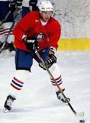 Andrej Tavzelj at  hockey training of Slovenian national team, on December 12, 2007 in Bled - Ice Arena, Slovenia. (Photo by Vid Ponikvar / Sportal Images)