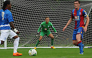 Kleyton Perntreou watches closely as QPR go on the attack during the U21 Professional Development League match between U21 QPR and U21 Crystal Palace at the Loftus Road Stadium, London, England on 31 August 2015. Photo by Michael Hulf.