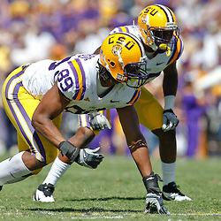 October 1, 2011; Baton Rouge, LA, USA;  LSU Tigers defensive end Lavar Edwards (89) against the Kentucky Wildcats during the third quarter at Tiger Stadium. LSU defeated Kentucky 35-7. Mandatory Credit: Derick E. Hingle-US PRESSWIRE / © Derick E. Hingle 2011