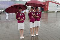 Hotesses d'accueil chinoises sur le site de Shanghai Expo 2010
