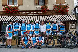 10-09-2017 FRA: BvdGF Tour du Mont Blanc day 2, St. Gervais<br /> Omgeven door imposante bergtoppen en vergezichten rijden we over mooie paden en trails naar de plaats St. Gervais waar we overnachten / Team Spanje