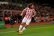 Stoke City midfielder Joe Allen (4) during the Premier League match between Stoke City and Watford at the Britannia Stadium, Stoke-on-Trent, England on 3 January 2017. Photo by Richard Holmes.