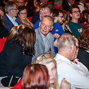 NLD/Utrecht/20171212 - Premiere Hendrik Groen, echte Hendrik groen waarna de serie is gescreven (in grijze kleding)