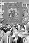 Sharlston Branch banner. 61988 Yorkshire Miner's Gala. Wakefield.