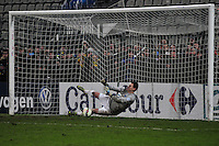 Dan Delaunay / Penalty  - 20.01.2015 - Quevilly / Bastia  - Coupe de France 2014/2015<br /> Photo : Philippe Lebrech / Icon Sport
