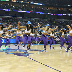 07 March 2009: A New Orleans Hornets Honeybees performs for the crowd during a NBA game between the New Orleans Hornets and the Oklahoma City Thunder at the New Orleans Arena in New Orleans, Louisiana.