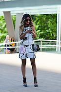 Print Dress, Outside BCBG Max Azria