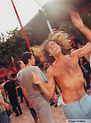Dancing hippie man Ibiza 2001