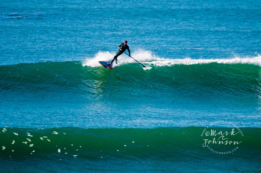 Stand-Up Paddle Surfing, Punto San Carlos, Baja California, Mexico