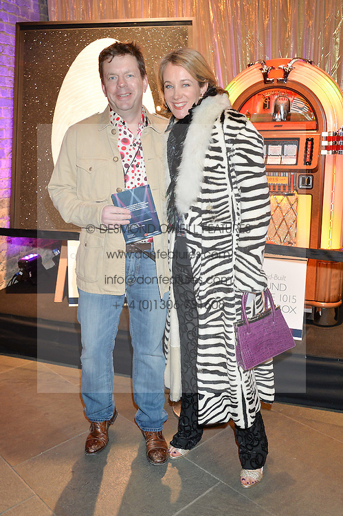 JAMES BAKER and his wife TV presenter ANASTASIA COOKE at a Night of Disco in aid of Save The Children held at The Roundhouse, Chalk Farm Road, London on 5th March 2015.