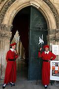 guards at the rector palace Dubrovnik, Croatia