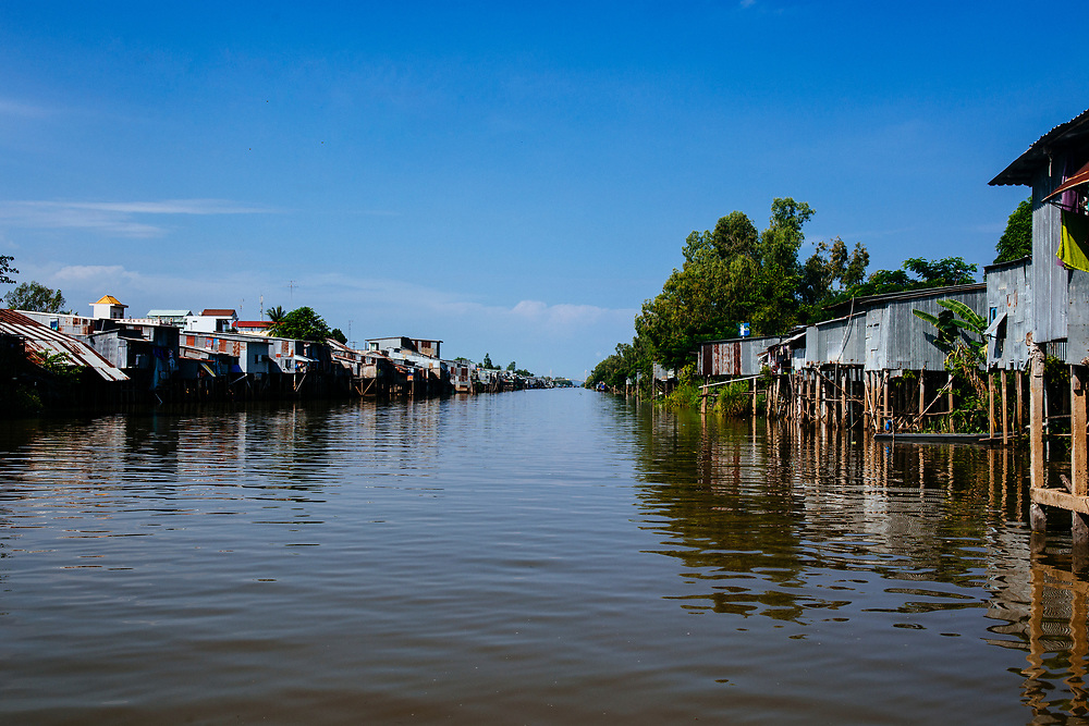 Canals and waterways in the Mekong Delta, southern Vietnam.