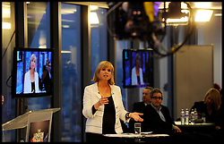 Sky News Presenter Anna Botting hosting the Sky News London Mayor Debate in the City of London, April, 2012. Photo By Andrew Parsons/i-Images