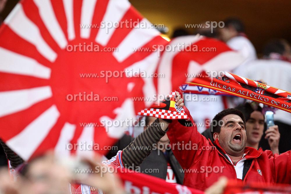 12.05.2010, Hamburg Arena, Hamburg, GER, UEFA Europa League Finale, Atletico Madrid vs Fulham FC im Bild .Atletico de Madrid's supporters . EXPA Pictures © 2010, PhotoCredit: EXPA/ nph/  Alvaro Hernandez / SPORTIDA PHOTO AGENCY