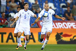 September 5, 2017 - Reggio Emilia, Italy - Maor Melikson of Israel and Tal Ben Haim of Israel during the FIFA World Cup 2018 qualification football match between Italy and Israel at Mapei Stadium in Reggio Emilia on September 5, 2017. (Credit Image: © Matteo Ciambelli/NurPhoto via ZUMA Press)