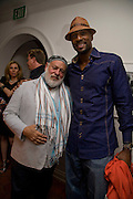 BRUCE WEBER; ALONZO MOURNING, Party hosted by Franca Sozzani and Remo Ruffini in honour of Bruce Weber to celebrate L'Uomo Vogue The Miami issuel by Bruce Weber. Casa Tua. James Avenue. Miami Beach. 5 December 2008 *** Local Caption *** -DO NOT ARCHIVE-© Copyright Photograph by Dafydd Jones. 248 Clapham Rd. London SW9 0PZ. Tel 0207 820 0771. www.dafjones.com.