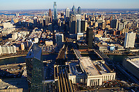 Aerial View, Philadelphia Skyline @ 30th Street Station
