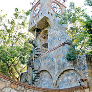 Public clock tower in Zihuatanejo, Mexico