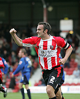 Photo: Lee Earle.<br /> Brentford v Bradford City. Coca Cola League 1. 02/09/2006. Brentford's Kevin O'Connor celebrates after scoring their first.