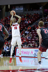 05 November 2017:  Phil Fayne guarded by Brandon McCombs during a Lewis College Flyers and Illinois State Redbirds in Redbird Arena, Normal IL