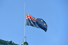 DEC 16 2014  Australia flag flying half mast over High Commission in London