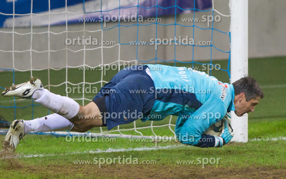 Amel Mujcinovic, goalkeeper of Celje during football match between NK Olimpija Ljubljana and CM Celje of 19th Round of PrvaLiga 2011/2012, on November 23, 2011 in SRC Stozice, Ljubljana, Slovenia.  (Photo By Vid Ponikvar / Sportida.com)