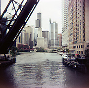 Kinzie Street Bridge.Chicago, Illinois.2007.Holga