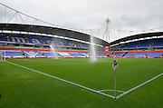 A dull and gloomy day before the Sky Bet Championship match between Bolton Wanderers and Wolverhampton Wanderers at the Macron Stadium, Bolton, England on 12 September 2015. Photo by Mark Pollitt.