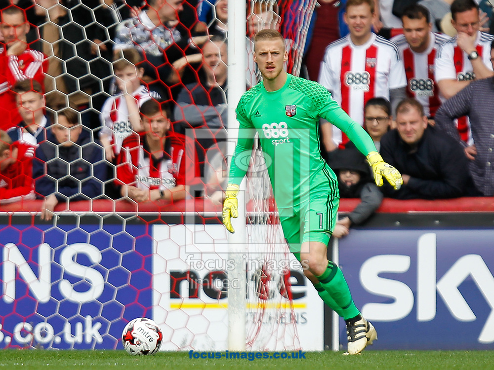 Daniel Bentley of Brentford during the Sky Bet Championship match between Brentford and Bristol City at Griffin Park, London<br /> Picture by Mark D Fuller/Focus Images Ltd +44 7774 216216<br /> 01/04/2017