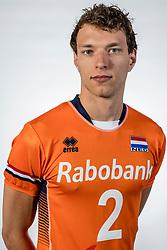 10-05-2017 NED: Selectie Nederlands volleybal team mannen 2017, Arnhem<br /> Op Papendal werd de selectie gepresenteerd / Wessel Keemink #2
