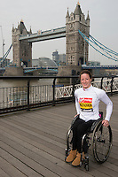 Virgin Money London Marathon 2015<br /> <br /> Tatyana McFadden (USA)  IPC Athlete competing in the IPC World Championships.<br /> <br /> <br /> Photo: Bob Martin for Virgin Money London Marathon<br /> <br /> This photograph is supplied free to use by London Marathon/Virgin Money.