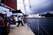 Sailing on Biscayne Bay, Miami, FL.