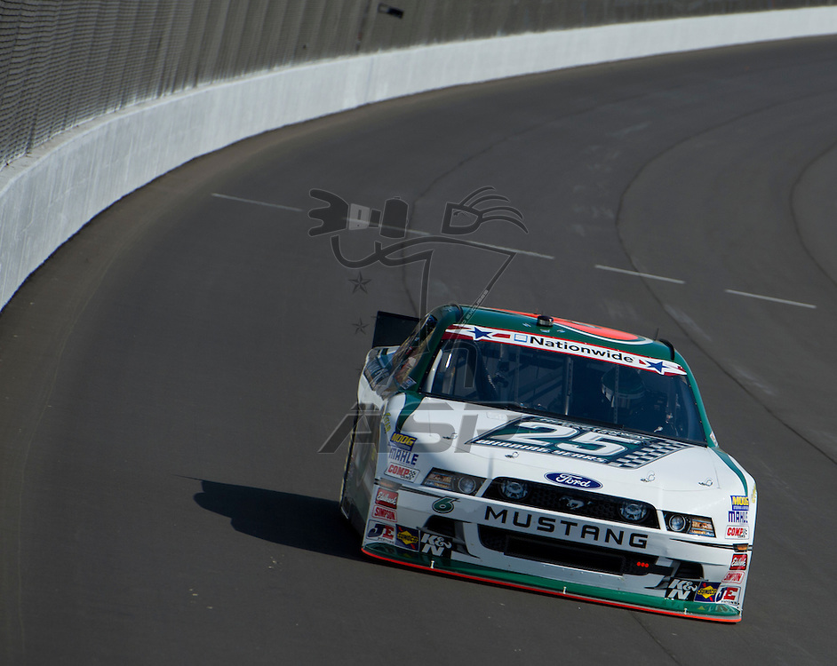 Brooklyn, MI - JUN 15, 2012:   Ricky Stenhouse, Jr. (6) during the first Nationwide Series practice session for the Alliance Truck Parts 250 race at the Michigan International Speedway in Brooklyn, MI.
