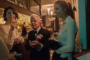 HENRIETTA CHANNON, NICKY HASLAM; LADY CHOLMONDELEY , Nicky Haslam hosts dinner at  Gigi's for Leslie Caron. 22 Woodstock St. London. W1C 2AR. 25 March 2015