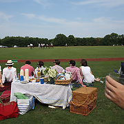 Spectators watching the action during the White Birch Vs K.I.G Polo match in the Butler Handicap Tournament match at the Greenwich Polo Club. White Birch won the game 11-8. Greenwich Polo Club,  Greenwich, Connecticut, USA. 12th July 2015. Photo Tim Clayton